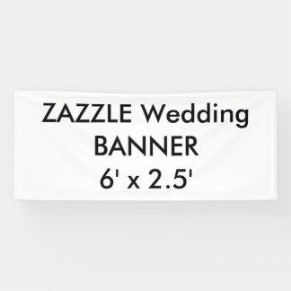Wedding Custom Banner 6' x 2.5'