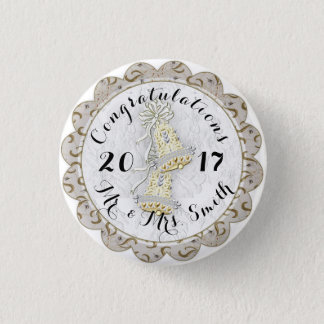 WEDDING CUSTOM  BUTTON SMALL Small, 1¼ Inch