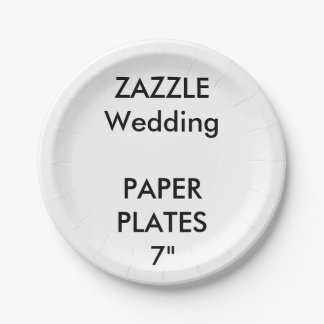 """Wedding Custom Disposable Party Paper Plates 7"""""""