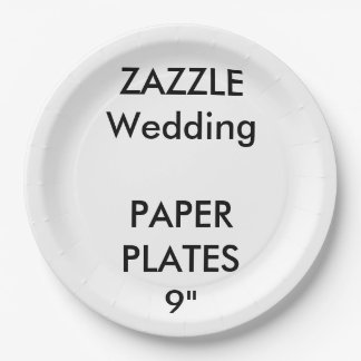 Wedding Custom Disposable Party Paper Plates 9""