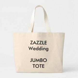 Wedding Custom Jumbo Large Tote Bag NATURAL