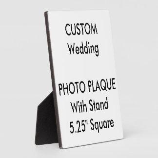 "Wedding Custom Photo Plaque 5.25"" Square"