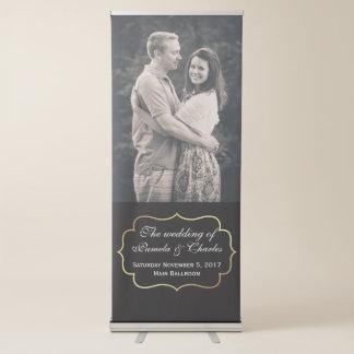 Wedding Custom Photo Retractable Banner