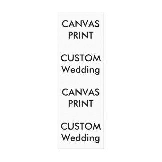 "Wedding Custom Wrapped Canvas Print, 12"" x 36"""