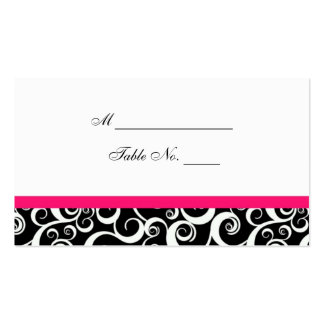 Wedding Damask Swirls Table Place Card Business Cards