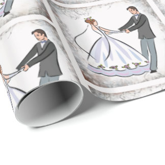 Wedding Dance Couple Dancing Wrapping Paper
