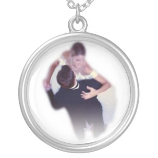 Wedding dance silver plated necklace