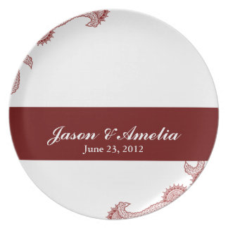 Wedding Date Plate