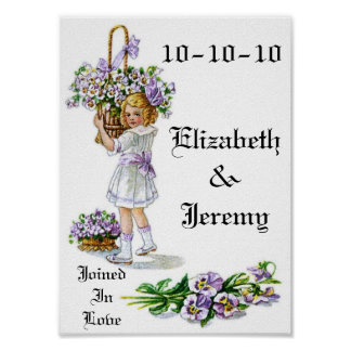 Wedding Date Wall Hanging Poster
