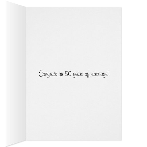 Wedding Day, Congrats on 50 years of marriage Card