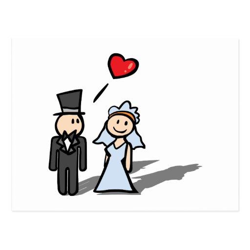 """Wedding Day"" couple design Postcards"