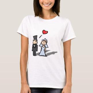 """Wedding Day"" couple design T-Shirt"