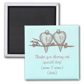 Wedding Day Lovebirds Magnet