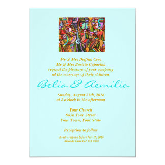 Wedding - Day Of The Dead - Lovers Tango 13 Cm X 18 Cm Invitation Card