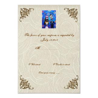 Wedding Day of the Dead Wedding RSVP Card