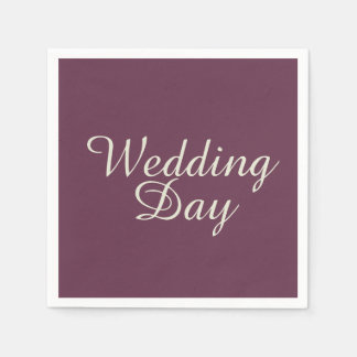 Wedding Day Paper Napkins