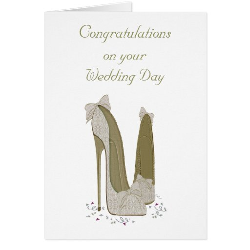 Wedding Day Personalised Greeting Card