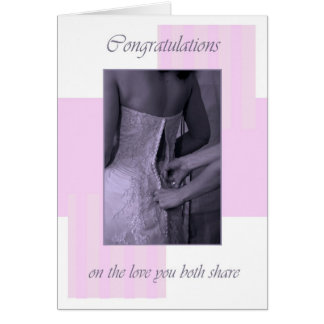 Wedding day pinks congratulations greeting card