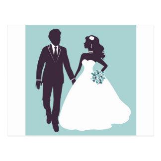 Wedding day postcard