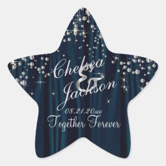 Wedding Day Starry Night | Personalize Star Sticker