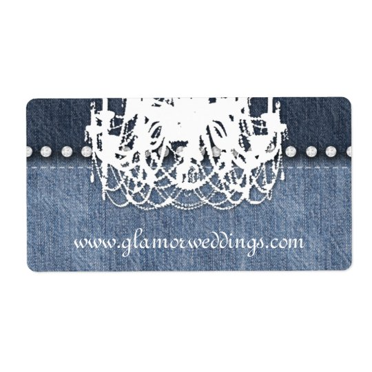 Wedding Denim Chandelier Label Jeans Jewellery Shipping Label