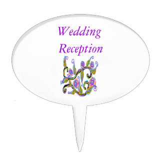 Wedding Design Cake Picks