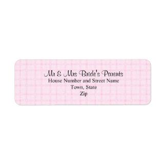 How To Address Wedding Gift Check : Pink Checks Shipping, Address, & Return Address Labels Zazzle.com.au