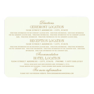 Wedding Details Card   Antique Gold Invites