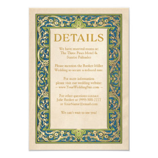 Wedding Details Cards | Illuminated Garden