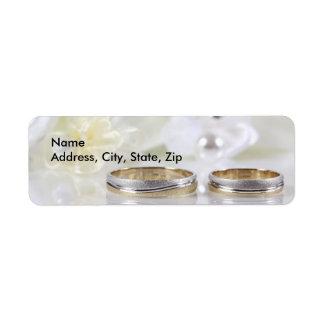 Wedding Double rings return address Return Address Label