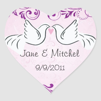 Wedding Dove Stickers