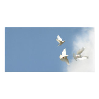 Wedding Doves Customized Photo Card