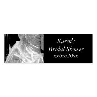 Wedding Dress Bridal Shower Pack Of Skinny Business Cards