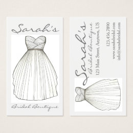 Wedding shop business cards business card printing zazzle wedding dress bride gown bridal shop boutique business card reheart Gallery