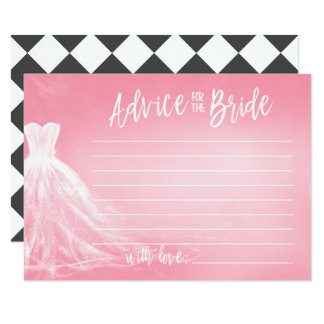 Wedding Dress | Pink Advice for the Bride Card