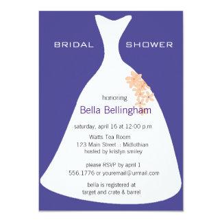 Wedding Dress Purple Bridal Shower Invitation