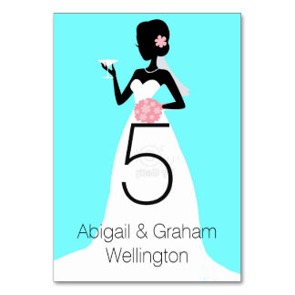 Wedding Dress Table Number Card