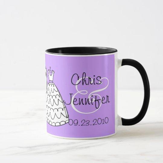 Personalised Wedding Mugs Australia : Wedding Dress & Tux Custom Keepsake Mugs Zazzle