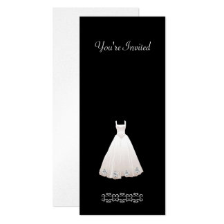 Wedding Dress with Diamond Invitations