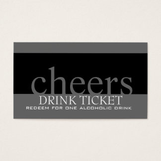 Wedding Drink Ticket for Reception