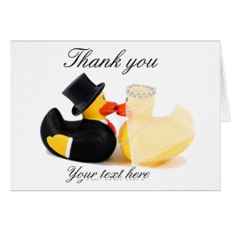 Wedding ducks 2 ... Thank you card