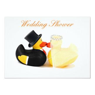 Wedding ducks 2 - Wedding Shower 13 Cm X 18 Cm Invitation Card