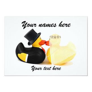 Wedding ducks 3 13 cm x 18 cm invitation card