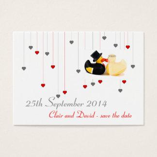 Wedding ducks 3 ... Save the date