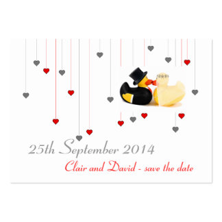 Wedding ducks 3 ... Save the date Pack Of Chubby Business Cards