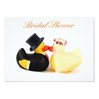 Wedding ducks 4 - Bridal Shower 13 Cm X 18 Cm Invitation Card
