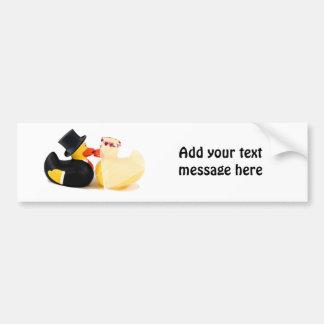 Wedding ducks 4 bumper stickers