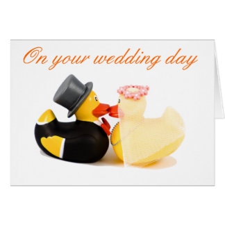 Wedding ducks card
