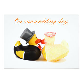Wedding ducks invitation