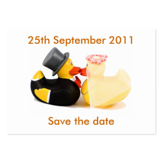Wedding ducks ... Save the date Business Cards